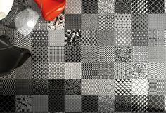 Zwart witte patchwork vloertegels 30x30 gebakken (02) Tegelhuys