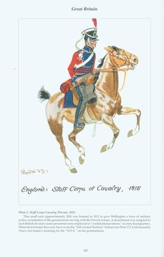 Great Britain: Staff Corps of Cavalry - 1815 Industrial Revolution, Napoleonic Wars, Modern Warfare, British Army, American Civil War, Military History, Victorian Era, Great Britain, Period