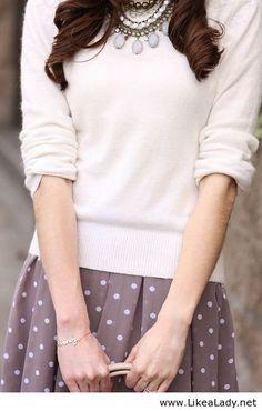 Polka dots & casual sweater