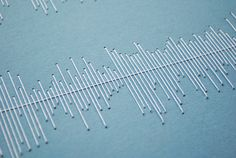 Stitched Visualisation- could do this for musical notation of the song blowing in the wind