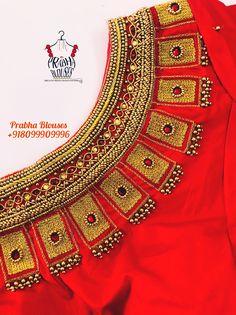 Wedding Saree Blouse Designs, Saree Blouse Neck Designs, Fancy Blouse Designs, Hand Work Blouse Design, Stylish Blouse Design, Traditional Blouse Designs, Designer Blouse Patterns, Maggam Works, Blouses
