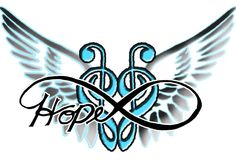 Tattoo idea in memory of young miss Hope James.