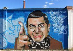 Great graffiti of Mr. Bean, Lisbon (Portugal).