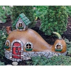 Birdhouses  Fiddlehead Fairy Village - Crookneck Cottage Porch Makeover *** This is an Amazon Associate's Pin. Item can be found on the website by clicking the VISIT button.