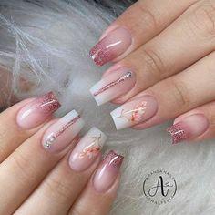 Heart Nail Designs, Nail Art Designs Videos, Pretty Nail Art, Great Nails, Types Of Nails, Manicure, Acrylic Nails, Glitter, Tattoos