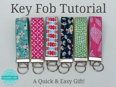Skip the purse this summer and keep the house key on this easy key fob. tutorial by ellisonlane.com