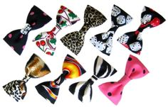 How To Make Bow-Tie Hairbow/Hair Bow Clips--1--Ribbon Bows