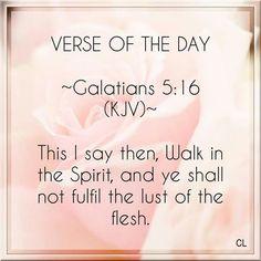 Galatians 5:16 KJV