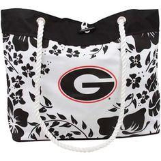 Georgia Bulldogs White-Black Tote Bag