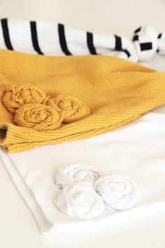 No sew upcycled baby hats tutorial