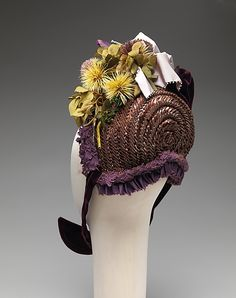 1887 Straw Bonnet.