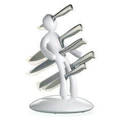 Really don't like your ex? LoL! The EX White Knife Block by Raffaele Iannello $65 at Fab.  LoL! They find the funniest stuff. <3