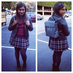 This adorable maroon and plaid number. | 25 Photos That Definitively Prove Mindy Lahiri Is TV's Best Dressed Character