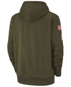 Nike Men s New England Patriots Salute To Service Therma Hoodie - Green XXL f63a7e4b3