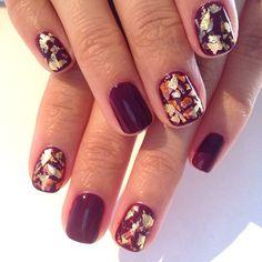 Autumn gold nails