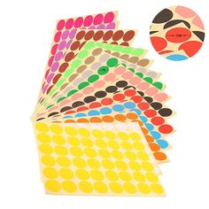 14 Colors Round Stickers Round Dot Adhesive Sticker Wall Stickers Diameter  25Mm