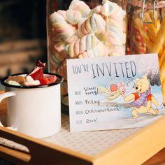 Winnie the Pooh Winter Party Invitation