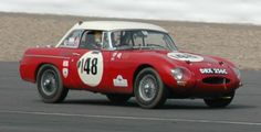 1965 MGB long nose at Silverstone 2012 anniversary 50 years MGB. The MGB50 Celebration Race 1962-2012