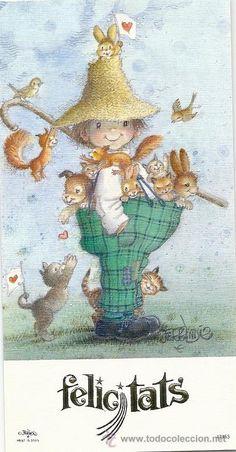 2017M - FERRÁNDIZ Nº 47453 - MIDE 16,5X8,5 CM (Postales - Dibujos y Caricaturas) Vintage Cards, Vintage Postcards, Cute Kids Pics, Mediums Of Art, Fairytale Art, Tatty Teddy, Art For Art Sake, Cute Illustration, Adult Coloring Pages