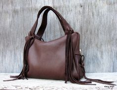 Chocolate Deerskin Handbag