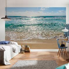 East Urban Home Wolfeboro Seaside Wall Mural Photo Wallpaper, Wallpaper Roll, Seaside Wallpaper, Strand Wallpaper, Beach Wall Murals, Wall Art, 3d Wall Murals, Wall Design, House Design