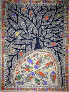 Madhubani art: Tree of life