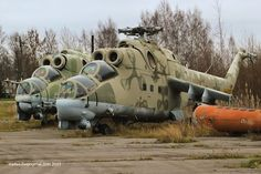 Abandoned helicopters at a military airfield in Russia Russian Military Aircraft, Military Helicopter, Fighter Aircraft, Fighter Jets, Aviation Accidents, Russian Jet, Old Planes, St Petersburg Russia, Van Camping