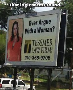 Absolutely hilarious add for female attorney.   #lawyerjoke #womenlawyers