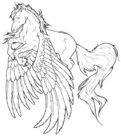 91 Best Pegasus To Color Images On Pinterest