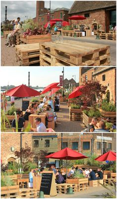 Keep calm and pallet ON #Installation, #Outdoor, #Pallets, #Sofa, #Table, #Terrace