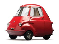 The Original Smart Car: Red 1959 Scootacar Mk I Microcar Microcar, Bmw Isetta, Scooters Vespa, Models Men, Lambretta, Bmw Autos, American Graffiti, Weird Cars, Smart Car