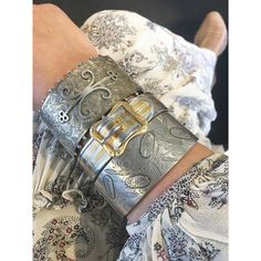 Antique silver bracelets that go with all your outfits. See the collection at Isadoras.com.