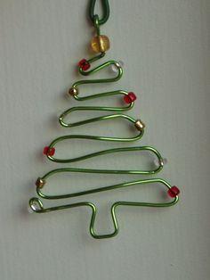 Handmade wire Christmas Tree ornament