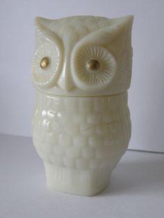 1970's Vintage Porcelain Avon Owl