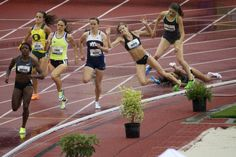 Lyndsay Harper is tripped during qualifying heat of the women's 800m. #tracktown12 #eugene2012