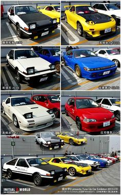 Cars from initial d anime