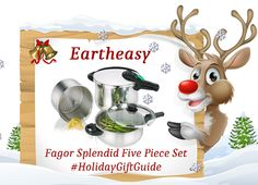 Eartheasy Fagor Splendid Five Piece Set - Pausitive Living Holiday Gift Guide, Holiday Gifts, Giveaways, Entertaining, Christmas, Xmas Gifts, Xmas, Navidad, Noel