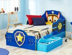 Paw Patrol Toddler Bed with LOTS of Underbed Storage!