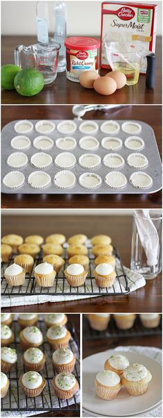 Mini Gin & Tonic Cupcakes