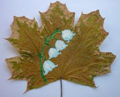 «Весенние мотивы». Мои рисунки на кленовых листьях. Воспитателям детских садов, школьным учителям и педагогам - Маам.ру