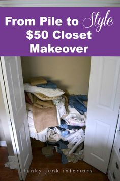 Organize your closet with style for under $50.00