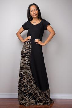 Black dress, Tie Dye dress, Bleached dress