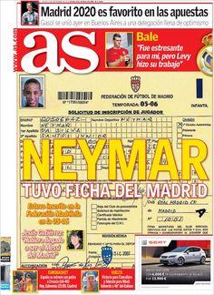 Los Titulares y Portadas de Noticias Destacadas Españolas del 5 de Septiembre de 2013 del Diario AS ¿Que le pareció esta Portada de este Diario Español?