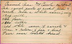 Great grandma's recipe for Creamed Peas and Carrots on Toast