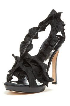 Badgley Mischka Iden Ruffle Sandal by Fancy Footwork on @HauteLook
