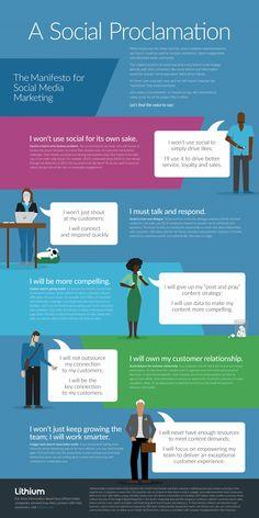 The Manifesto for Social Media Marketing [Infographic] | Social Media Today
