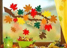 Risultati immagini per fensterbilder herbst Autumn Crafts, Autumn Art, Autumn Activities, Art Activities, Diy And Crafts, Arts And Crafts, Paper Crafts, Decoration Creche, Diy For Kids