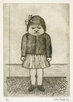 Third daughter. 1954  Intaglio drypoint, printed in black ink with plate-tone, from one copper plate
