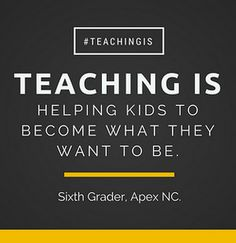 Always wanted to teach. Lots of ways to give, yes?