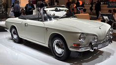 Karmann Ghia, VW Type 34 convertible. Very rare: only about 12 prototypes were made by Karmann...